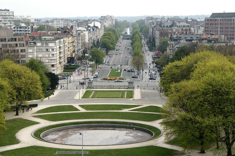 布鲁塞尔cinquantenaire du parc 免版税图库摄影
