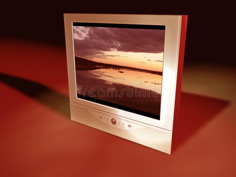 平面式屏幕电视 向量例证