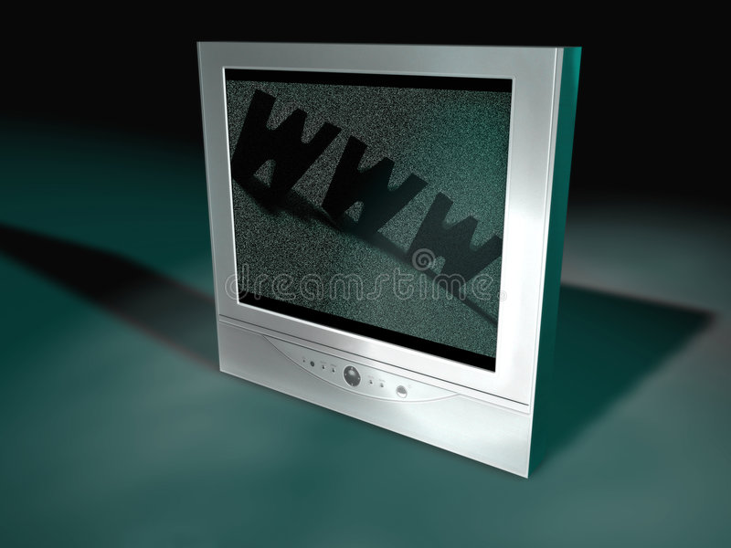 平面式屏幕电视 皇族释放例证