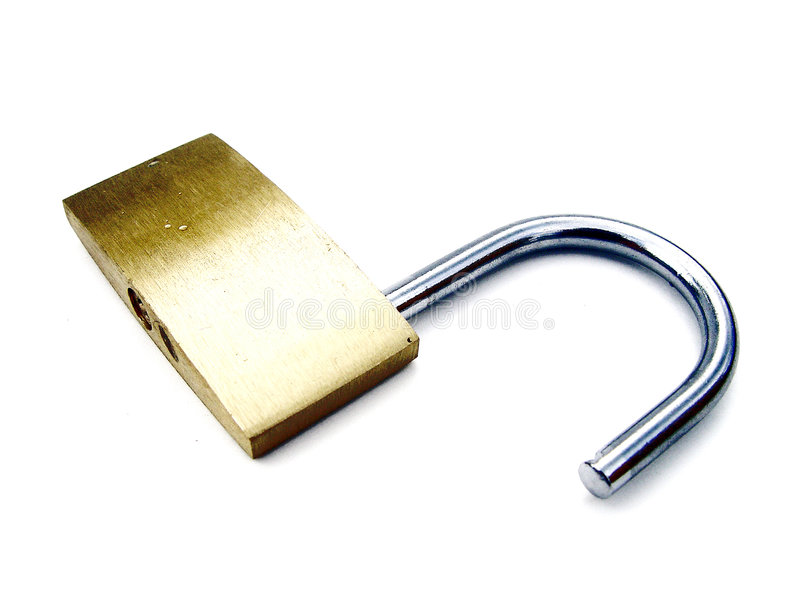 开锁的高关键挂锁 免版税库存照片