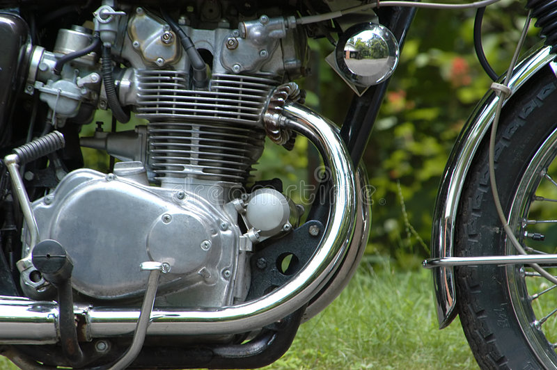 引擎摩托车 库存图片