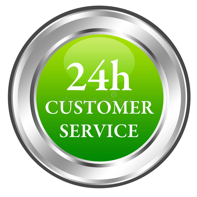24h customer service royalty free illustration