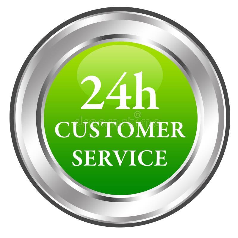 24h de klantendienst royalty-vrije illustratie