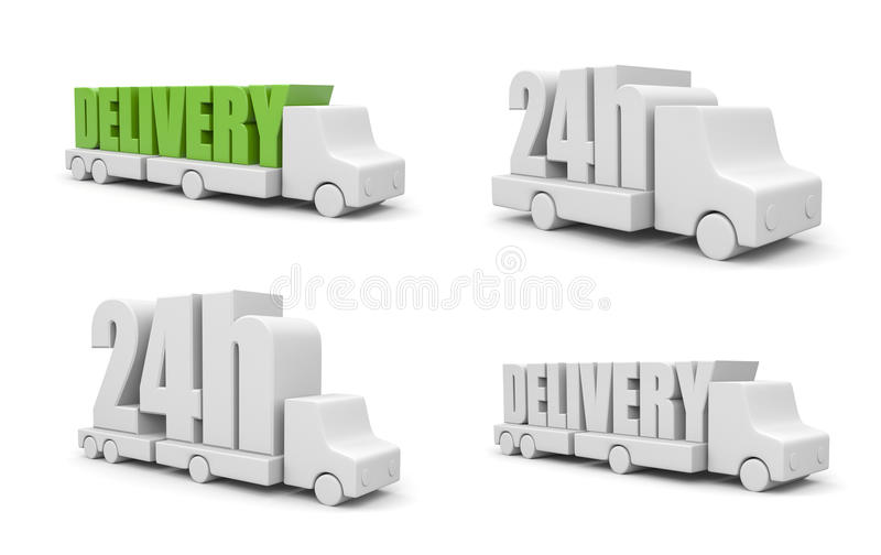 24th delivery vector illustration