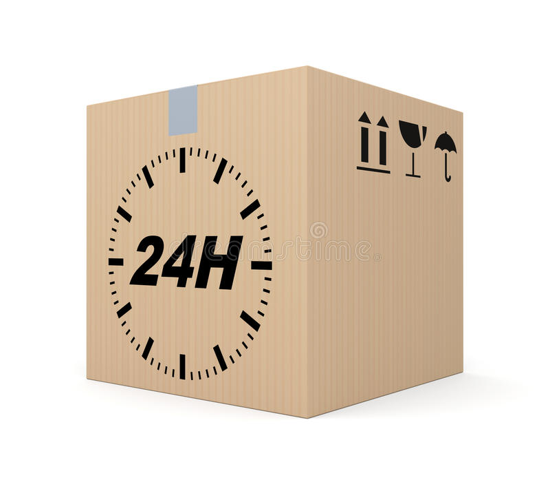 24th delivery stock illustration