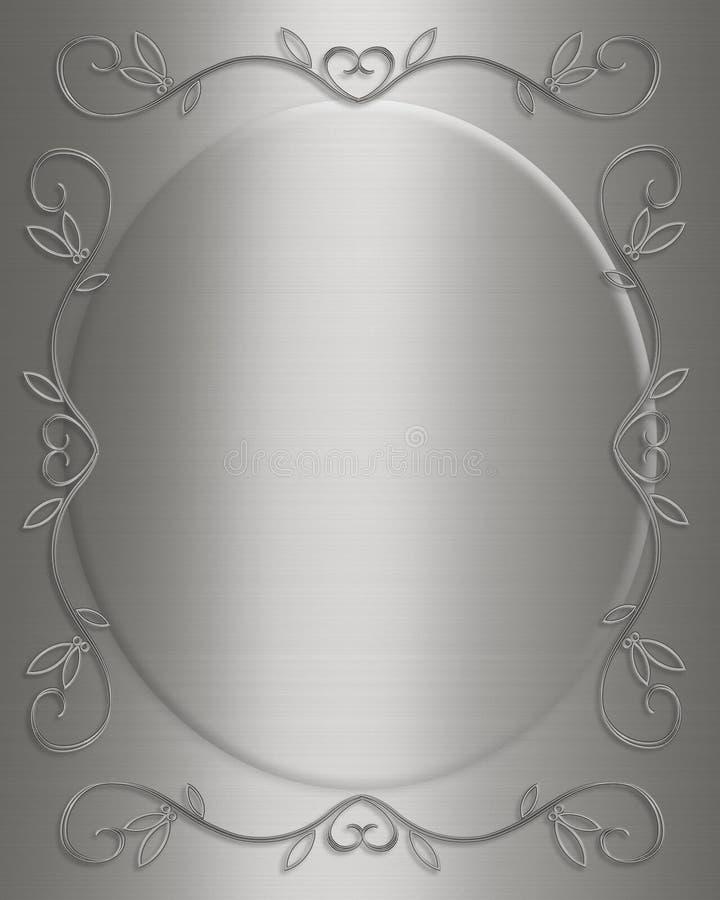 25ème invitation Wedding de carte d'anniversaire illustration libre de droits