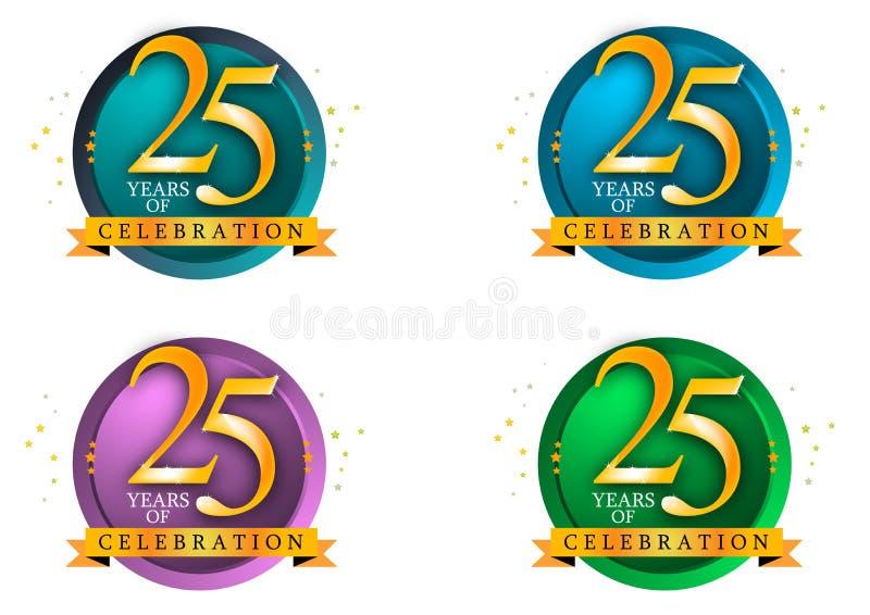 25 år royaltyfri illustrationer