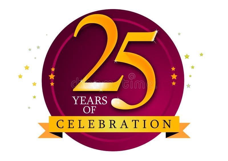 25 έτη διανυσματική απεικόνιση