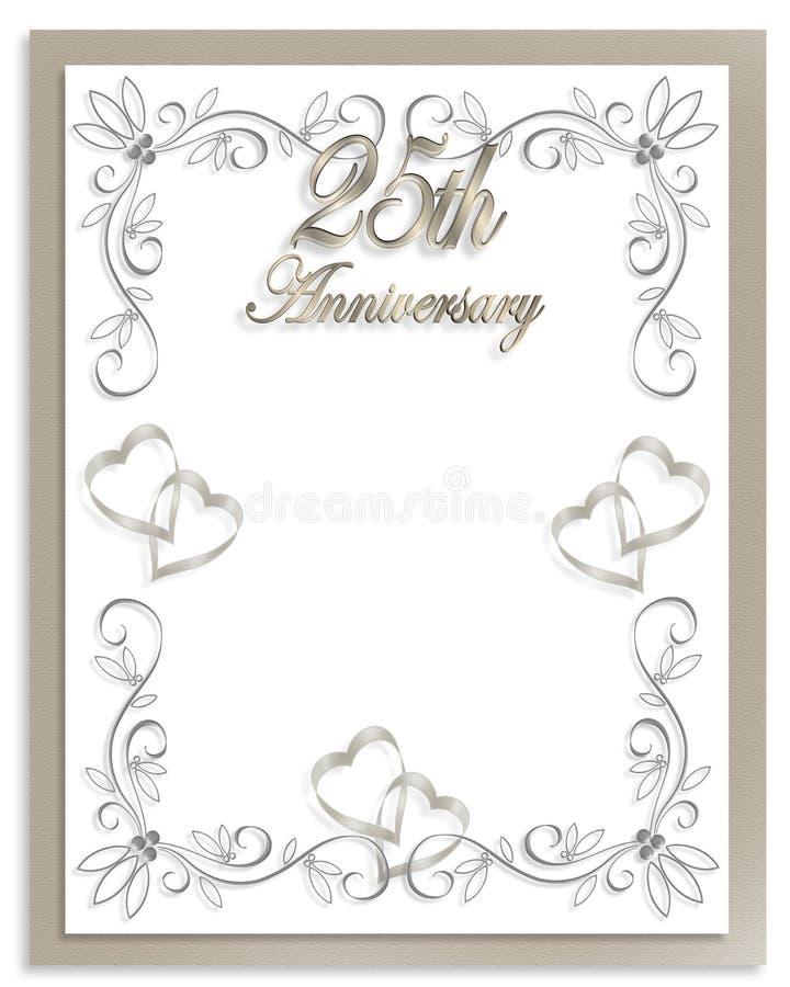 25$ος γάμος πρόσκλησης επ&epsilon ελεύθερη απεικόνιση δικαιώματος
