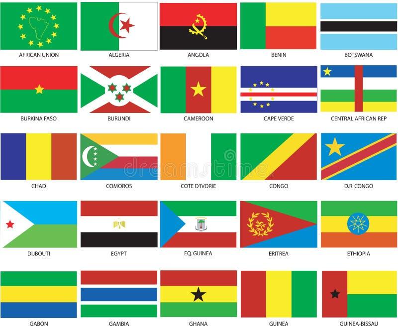 25 bandeiras africanas 1 ilustração royalty free