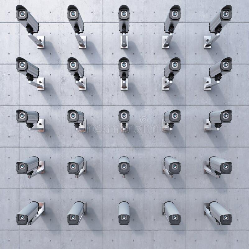 25 cctv-Kamera, die Sie überwacht stock abbildung