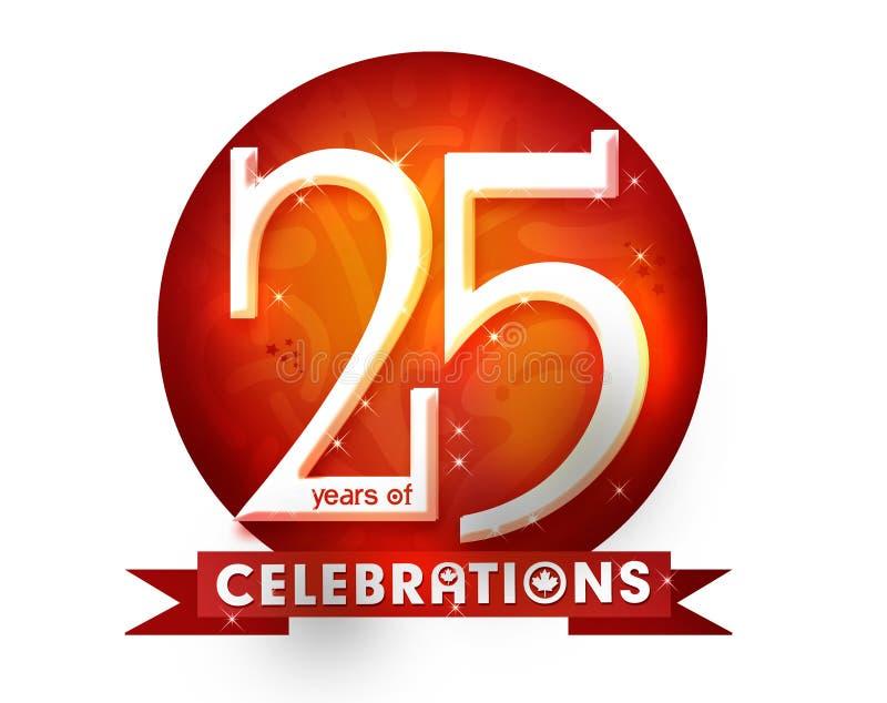 25 celebtation年 向量例证