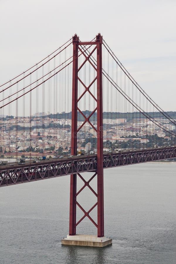 Download 25 de Abril bridge stock image. Image of structure, communication - 14244491