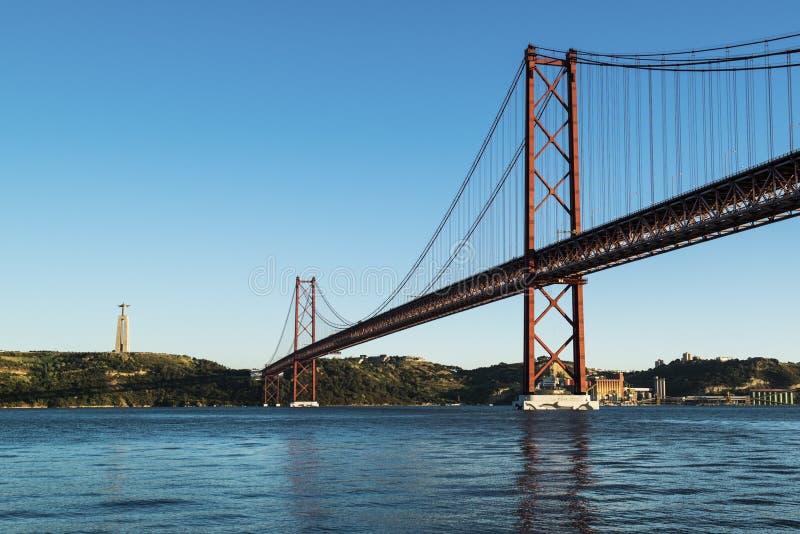 25 DE Abril Bridge stock foto