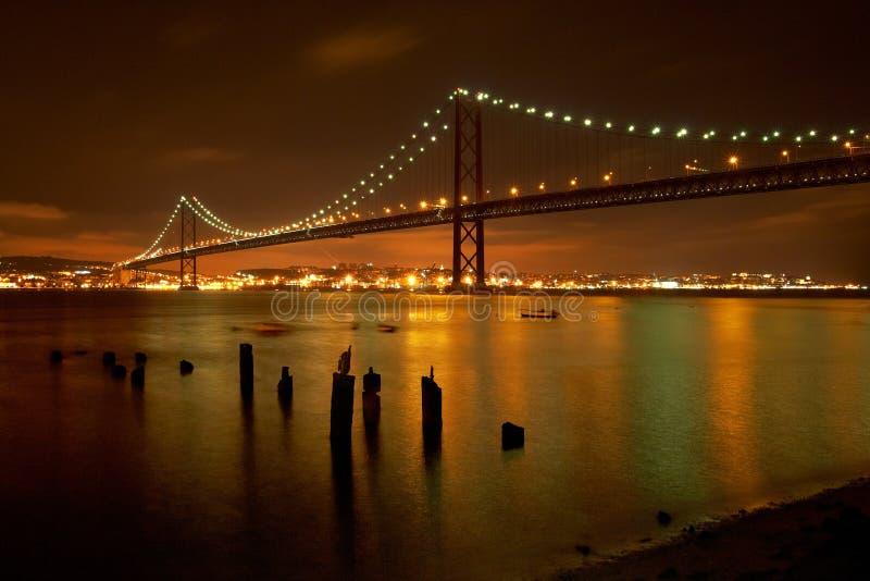 25 de Abril Bridge imágenes de archivo libres de regalías