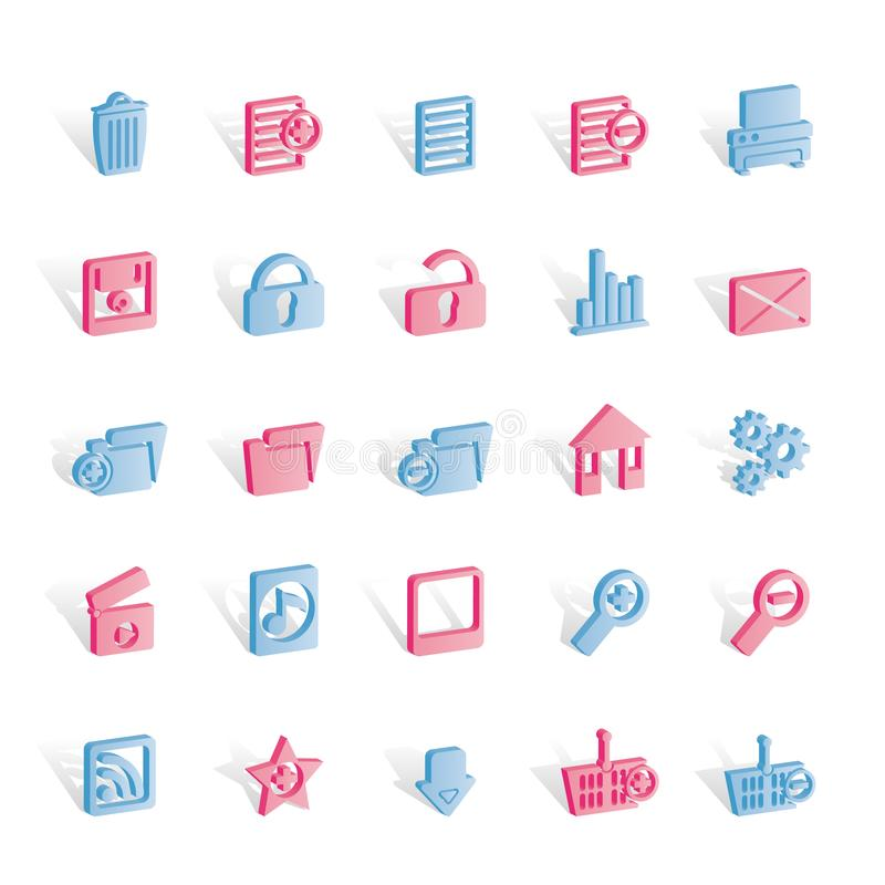 Download 25 Detailed Internet Icons stock vector. Illustration of modern - 14140309