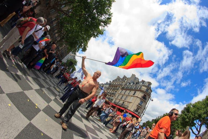 25 homoseksualnych France 2011 dum Czerwiec Paris obraz royalty free