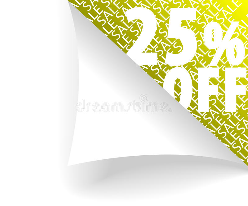 25% hors fonction image libre de droits