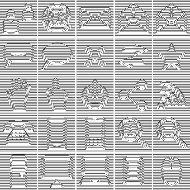 Download 25 Isolated Internet And Communication Icons Set Stock Photo - Image: 27391960