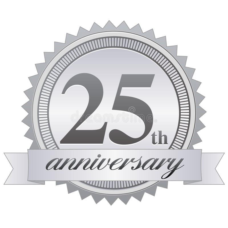 25. Jahrestags-Dichtung stock abbildung