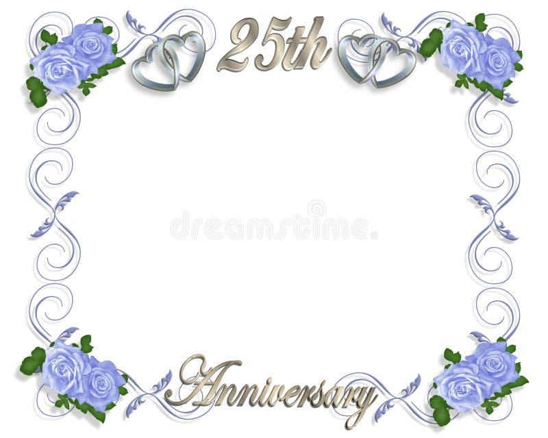 25. Jahrestags-Schablone lizenzfreie abbildung