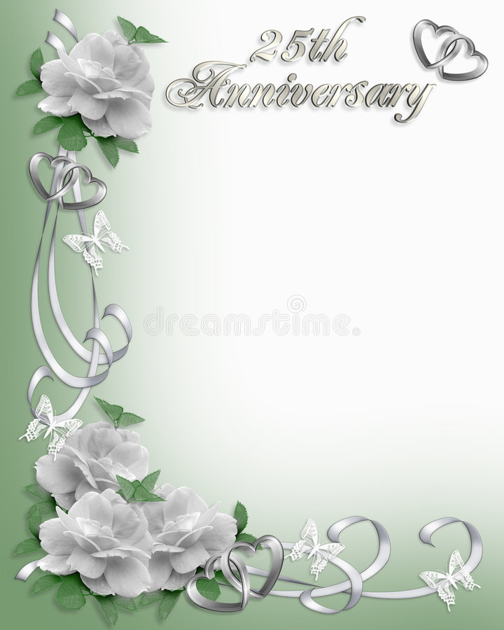 25. Jahrestagseinladung Rand stock abbildung