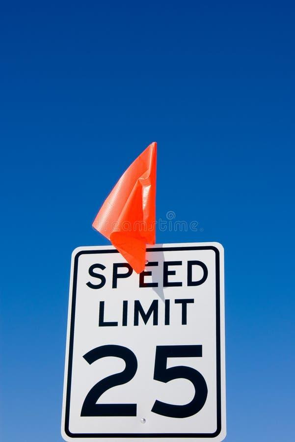 25 MPH-Höchstgeschwindigkeitzeichen lizenzfreie stockbilder