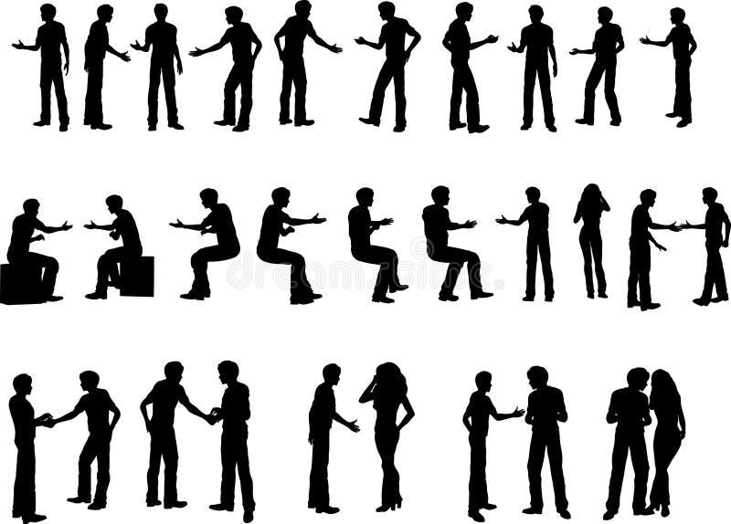 25 uścisków dłoni przedsiębiorstw. royalty ilustracja