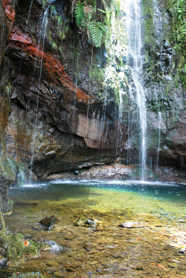 25 waterfalls in Madeira. The 25 waterfalls in Madeira, Portugal royalty free stock photography
