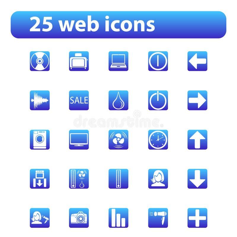 25 web icons royalty free stock image