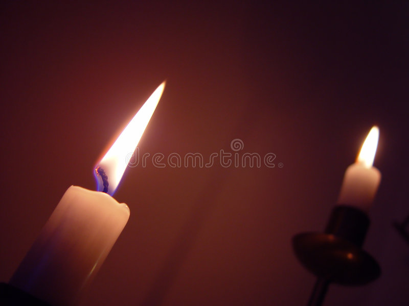 我点燃的蜡烛 库存照片