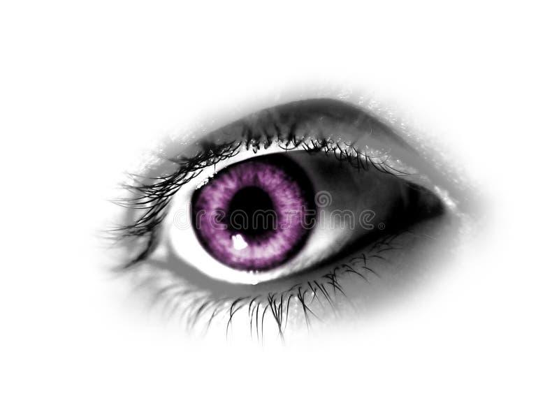 抽象眼睛紫色 向量例证