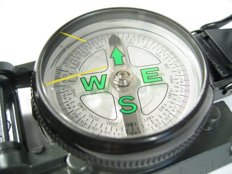接近的指南针iii  库存照片