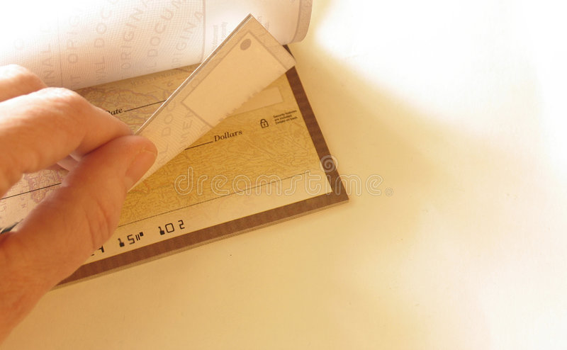 支票簿 免版税库存照片
