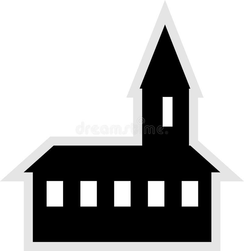 教会图标 免版税库存图片