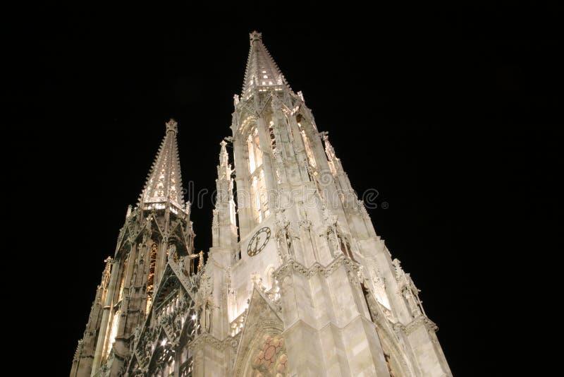 教会kirche维也纳votiv 免版税库存照片