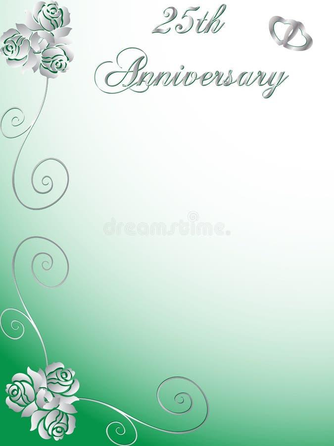 25ste huwelijksverjaardag vector illustratie