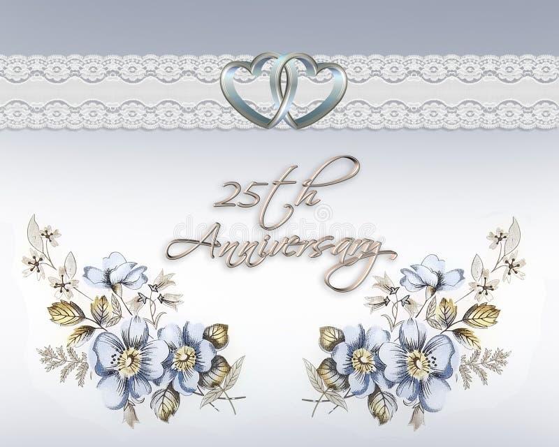 25ste huwelijksverjaardag stock illustratie