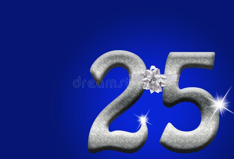 25ste Verjaardag stock afbeeldingen