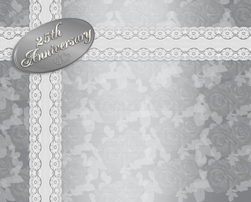 25th венчание приглашения годовщины бесплатная иллюстрация