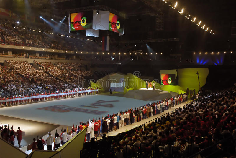 25th 8 2009 belgrade universiade arkivfoto