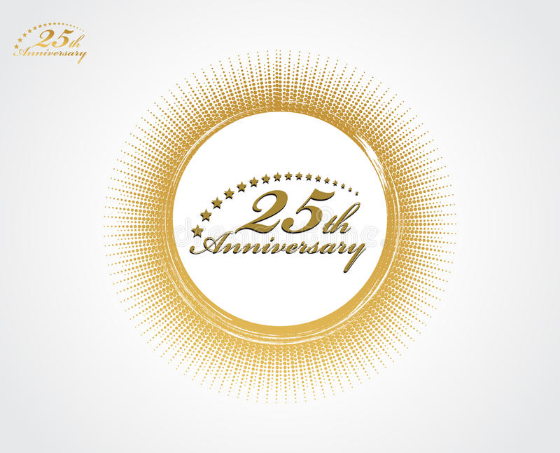 25th anniversary vector illustration