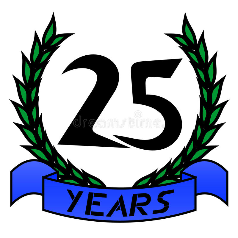 25th Anniversary Royalty Free Stock Photo