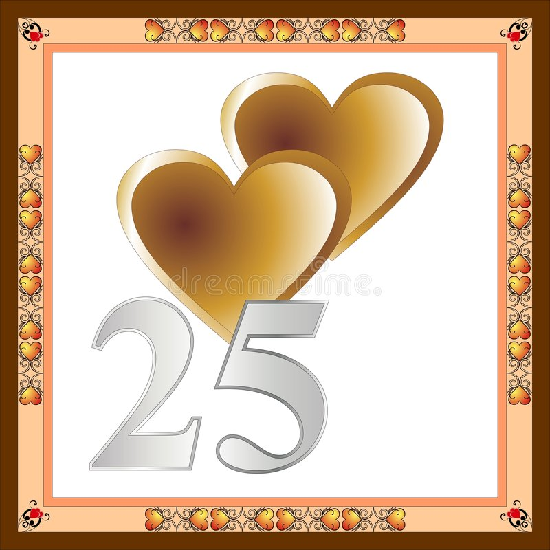 Free 25th Anniversary Card Stock Photos - 7968513