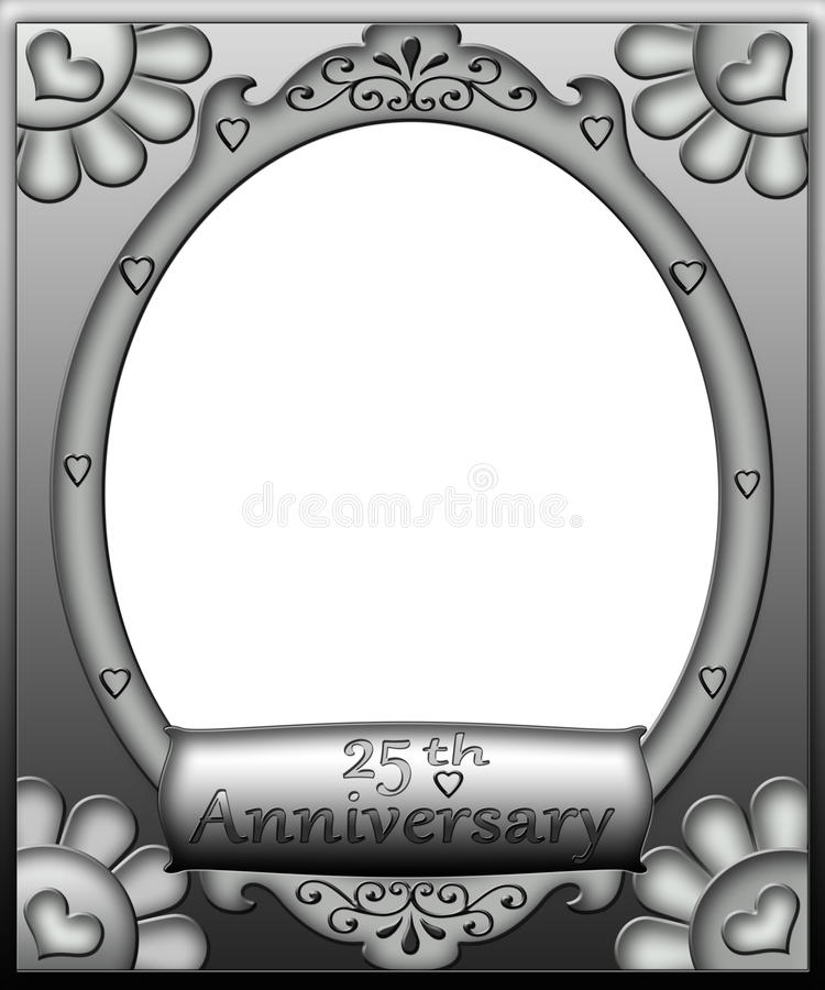 Download 25th Anniversary Frame Border Stock Photo - Image: 28927558