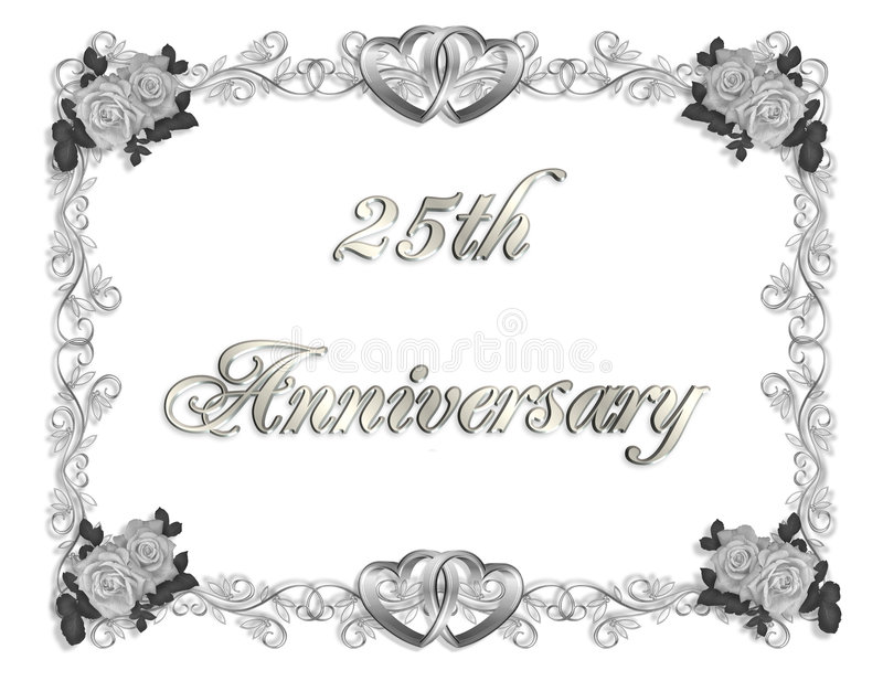 Download 25th Anniversary Invitation 3D Stock Illustration - Image: 5615525