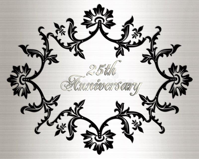 25th anniversary invitation card royalty free stock photography