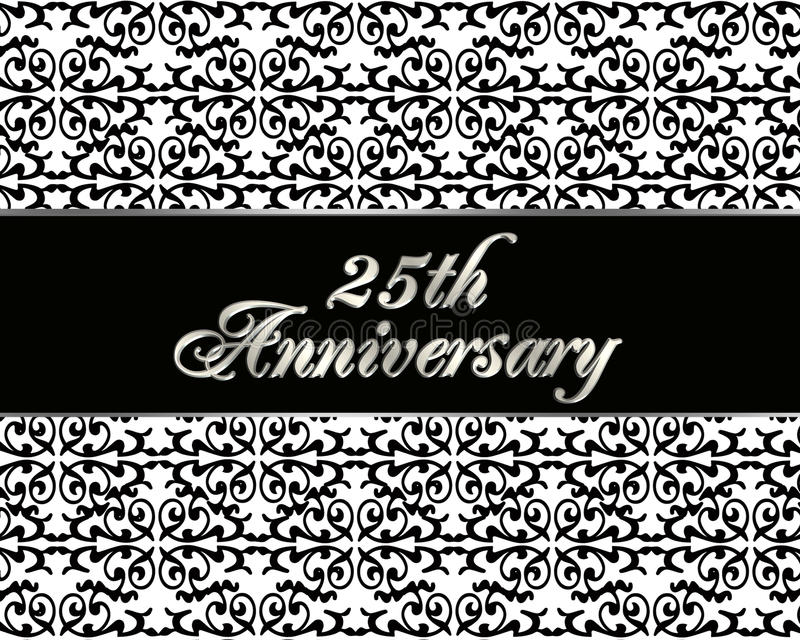 Download 25th Anniversary Invitation Card Royalty Free Stock Images - Image: 16355379