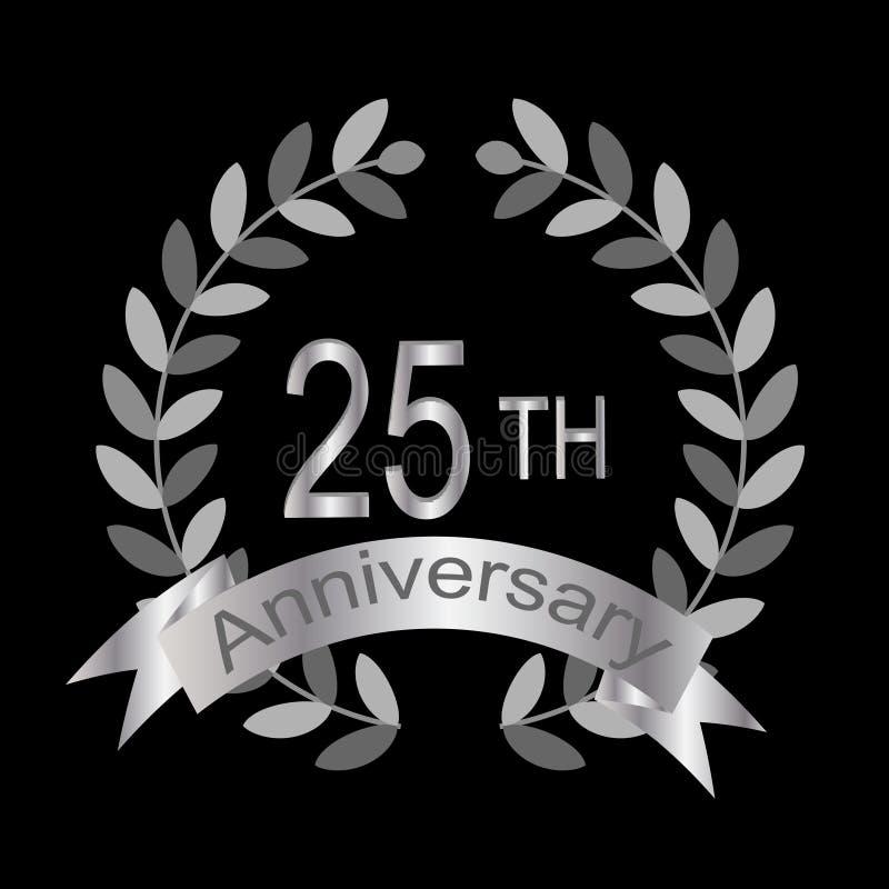 25th anniversary (vector)