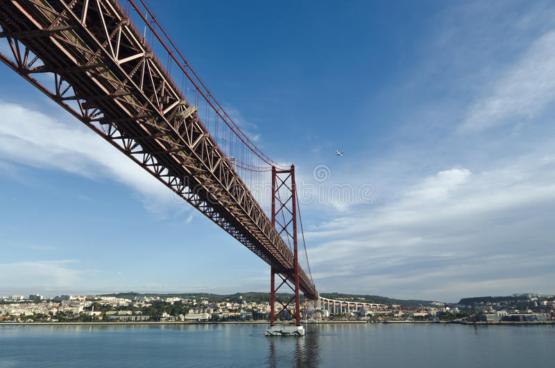 Download 25th of April Bridge stock image. Image of river, historical - 27411061